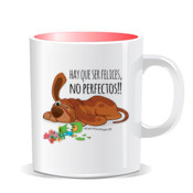 """FELICES perro"" Taza color interior"